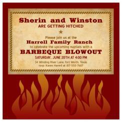 Hot Flames Wedding Stationery