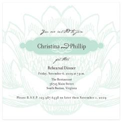 Jade Lotus Wedding Stationery