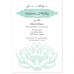 Mint Lotus Wedding Stationery