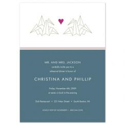 Love Origami Wedding Stationery