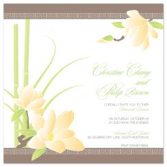 Bamboo+Magnolia Wedding Stationery