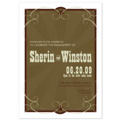 Western Scrolls Wedding Stationery
