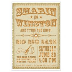 Vintage Western  Wedding Stationery
