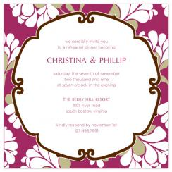 Lotus Bloom Wedding Stationery