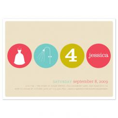 polka dot shower Wedding Stationery