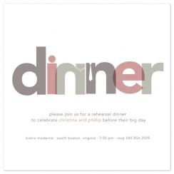 Dinner Party Wedding Stationery