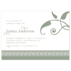 Green Floral Celebration Wedding Stationery