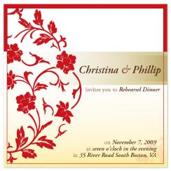 Traditional floral Wedding Stationery