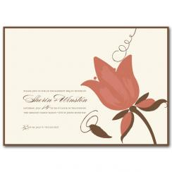 Raspberry Tulip Wedding Stationery