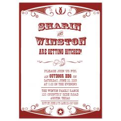 Western Engagement  Wedding Stationery