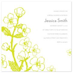 Shower Plant Wedding Stationery
