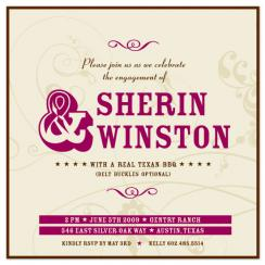Texan rose Wedding Stationery