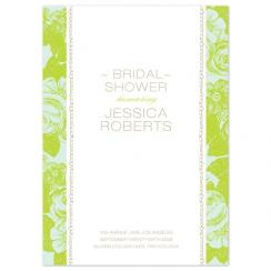 Lime and Blue Wedding Stationery