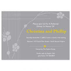 Lined Flowers rehearsal invitations Wedding Stationery