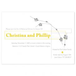 Squared Bliss rehearsal invitations Wedding Stationery