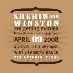 Western Flavor Wedding Stationery
