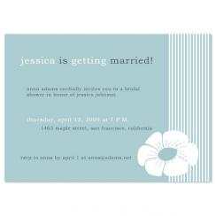 striped flowers Wedding Stationery