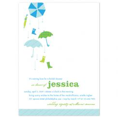 Raining love Wedding Stationery