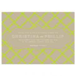 Bamboo Lattice Wedding Stationery
