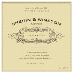 Old Time BBQ Wedding Stationery