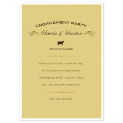 Texas Cow Wedding Stationery