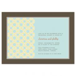 Tiled Medallion Wedding Stationery