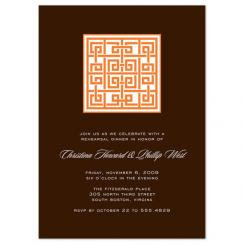 Block Lattice Wedding Stationery
