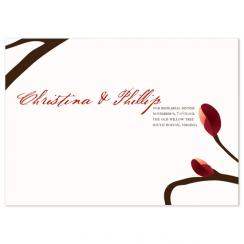 budding love Wedding Stationery
