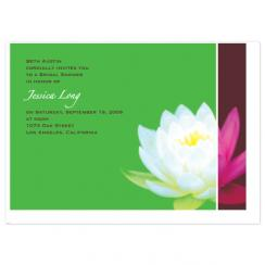 Lotus Blossom Wedding Stationery