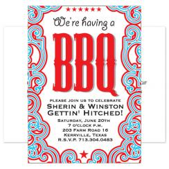 BBQ Party Hearty Wedding Stationery