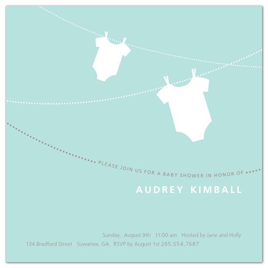 baby shower invitations - onesie whimsy by sweet tree studio