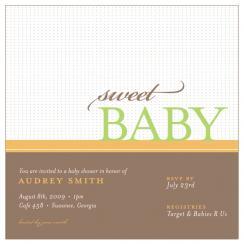 Sweet Baby Baby Shower Invitations