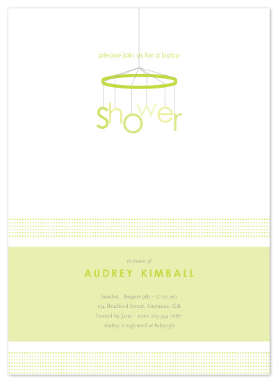 baby shower invitations - mod mobile by sweet tree studio