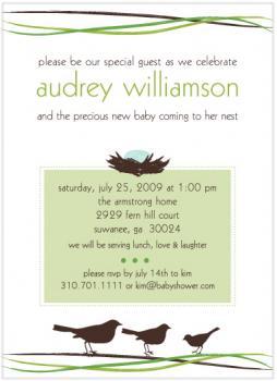 Mama's Nest Baby Shower Invitations