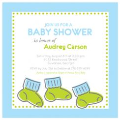 Dancing Booties Baby Shower Invitations