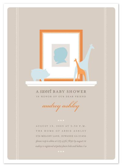 baby shower invitations - baby silhouette by pottsdesign