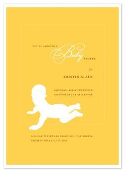 Mellow Yellow Baby Shower Invitations