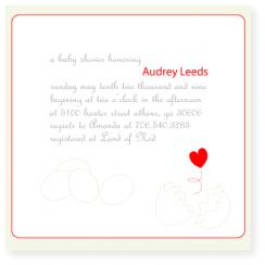 hatched Baby Shower Invitations