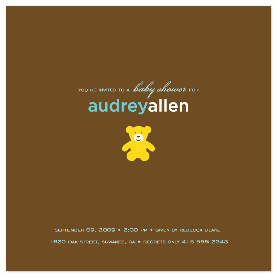 baby shower invitations - teddy bear by suite p