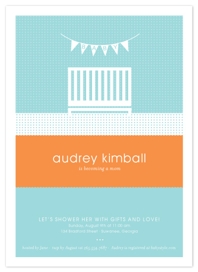 baby shower invitations - nifty nursery by sweet tree studio