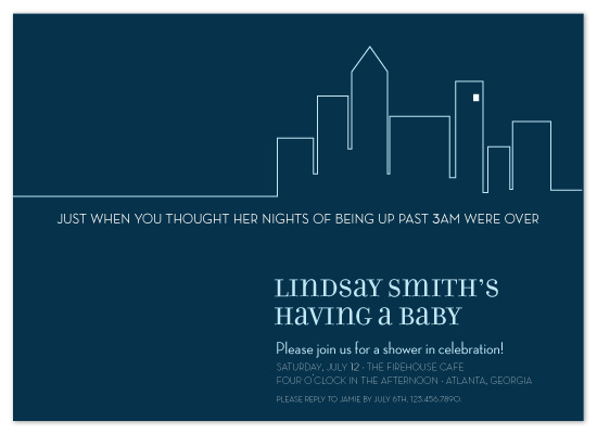 baby shower invitations - party at my crib by sweet street gals