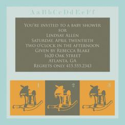 A Rockin' Good Time Baby Shower Invitations