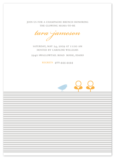 baby shower invitations - Classic stripes and sprouts by Emily Ranneby
