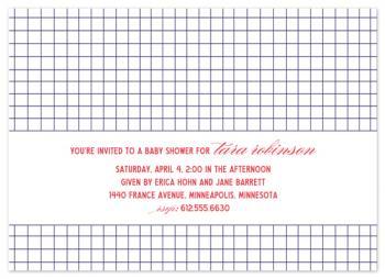 Bond Street Baby Shower Invitations