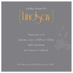 Modern Flourish Baby Shower Invitations