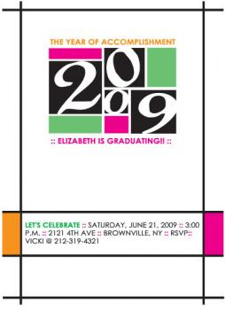 Mod Art Class of 09 Party Invitations
