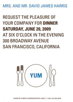 YUM Party Invitations