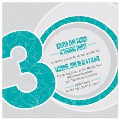 Fab 30 Party Invitations
