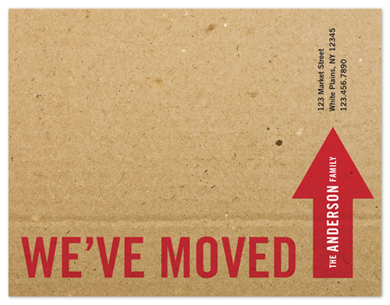 moving announcements - The Big Move by Amanda Larsen Design