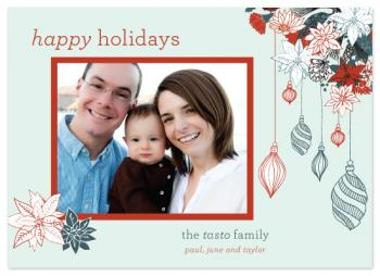 Winter Bouquet Holiday Photo Cards